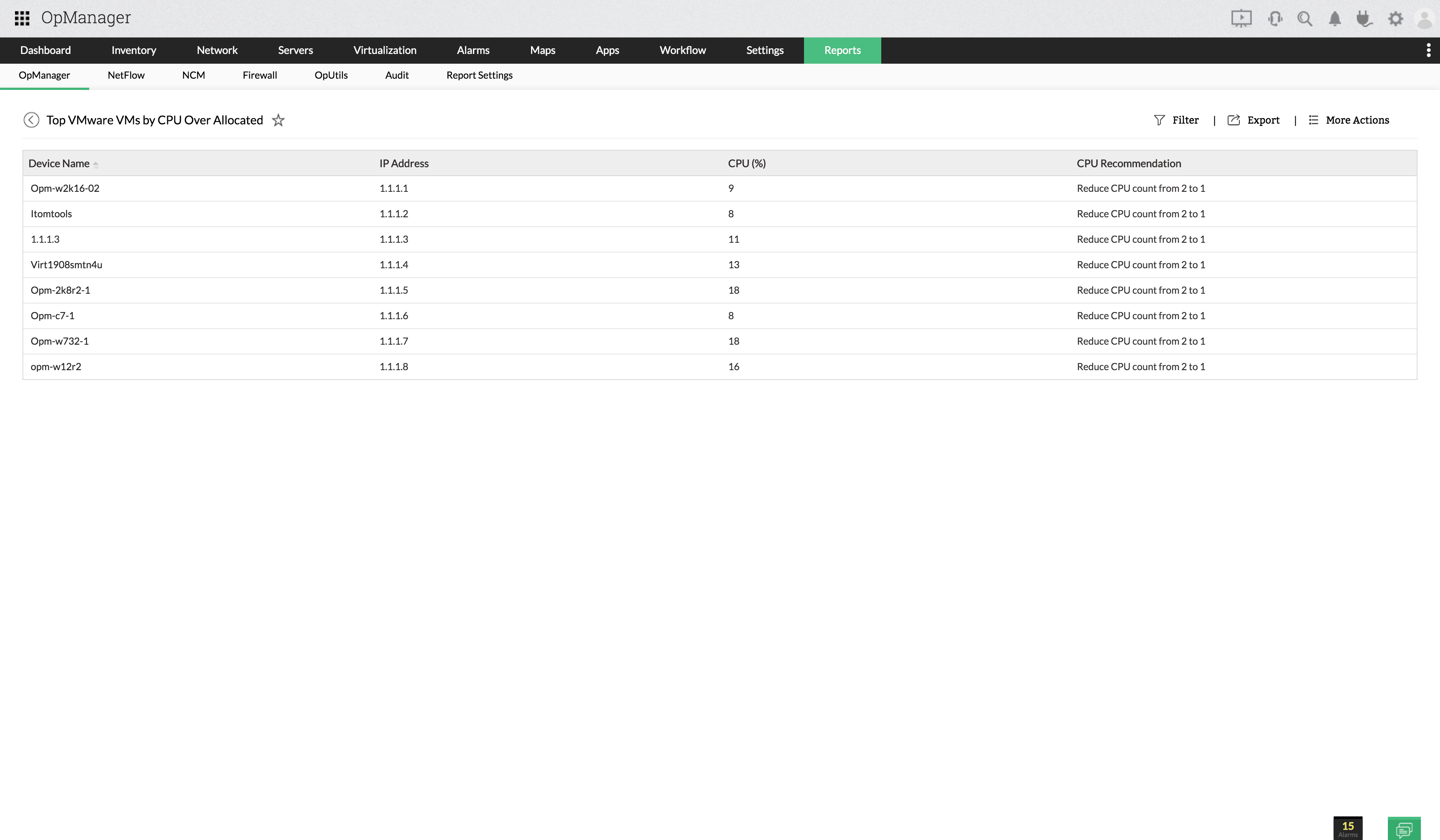 Hyper-V Performance Reports
