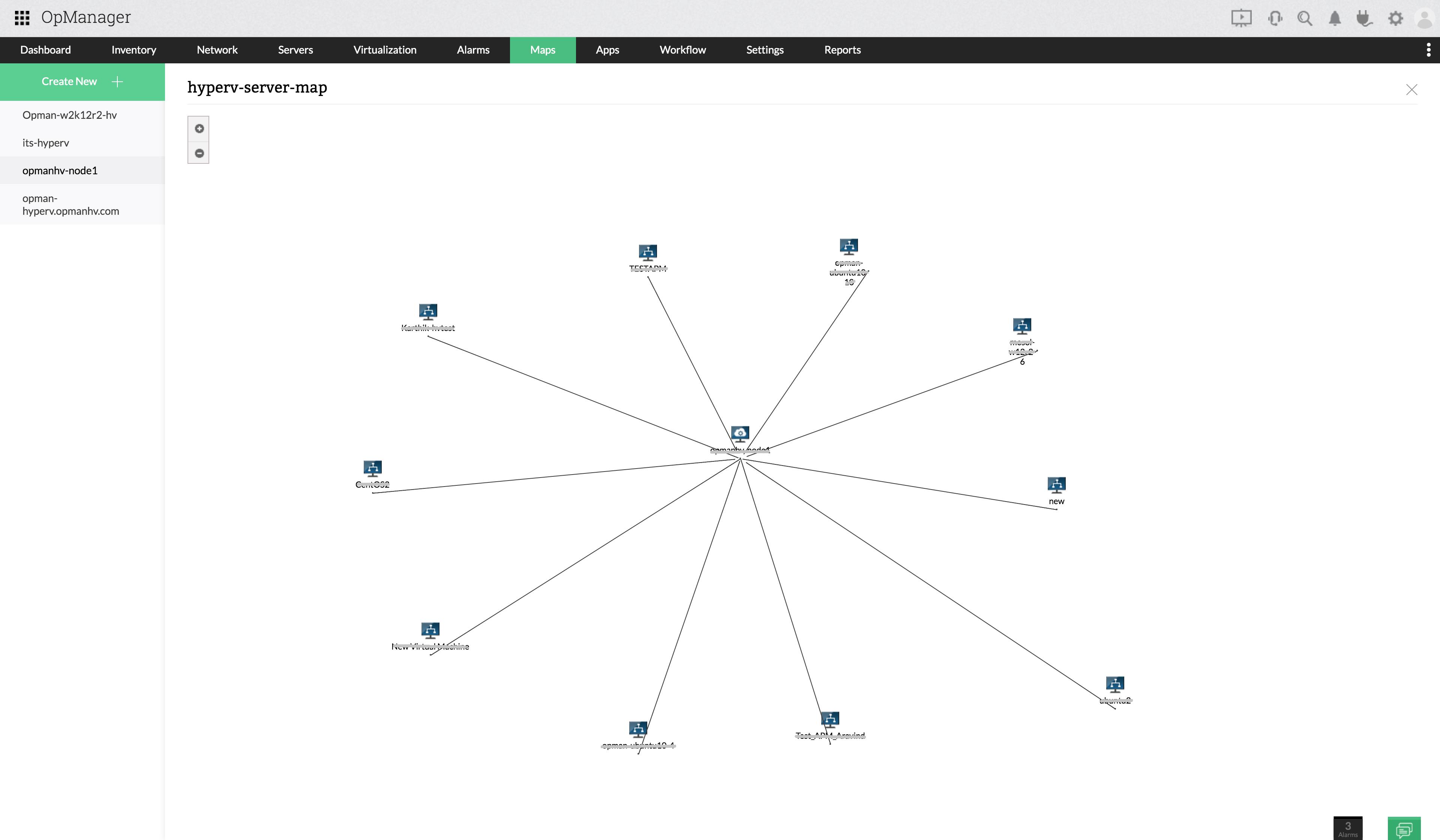 Hyper V Performance Monitor - Hyper V Server Maps