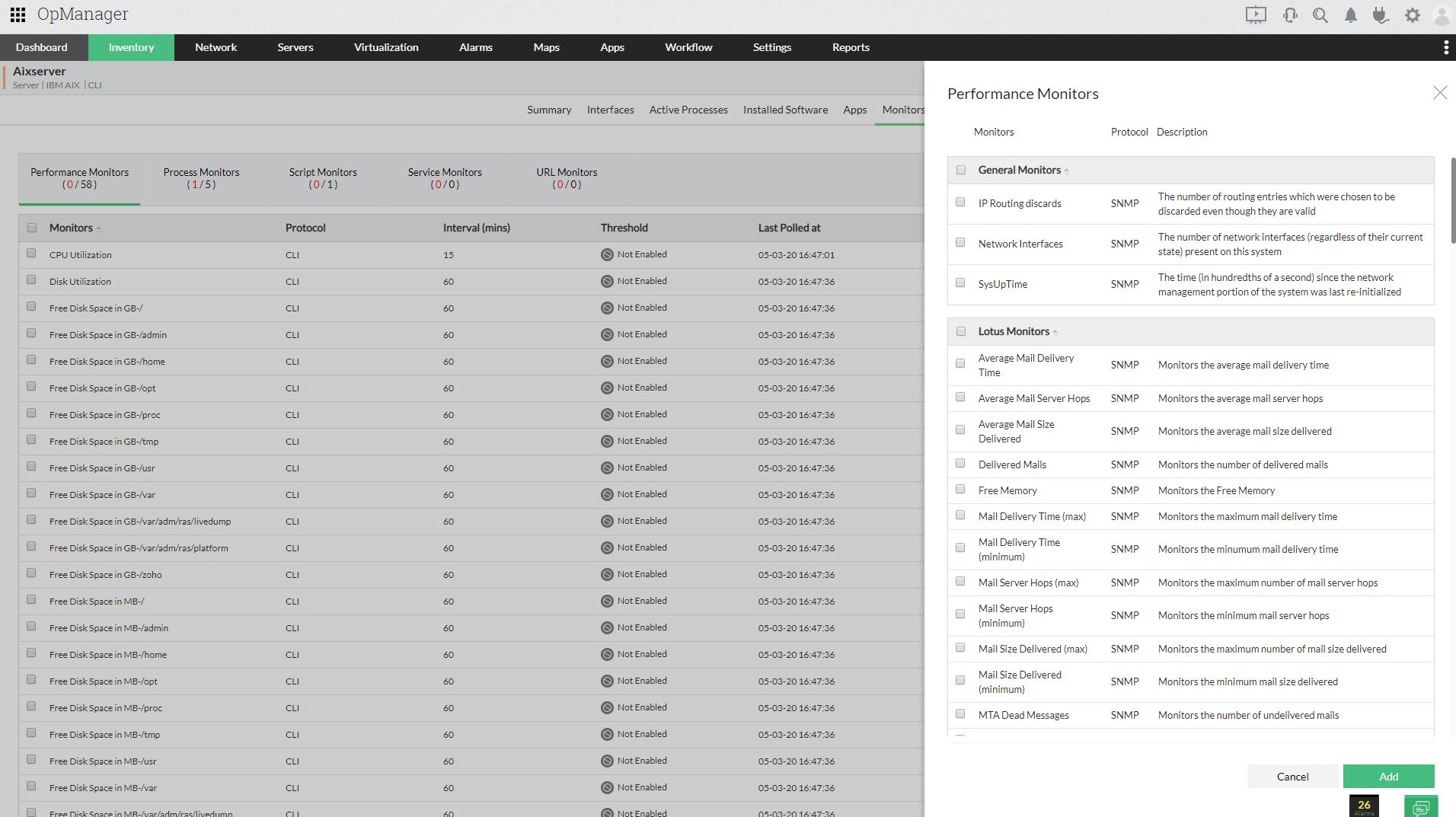IBM Monitoring - ManageEngine OpManager