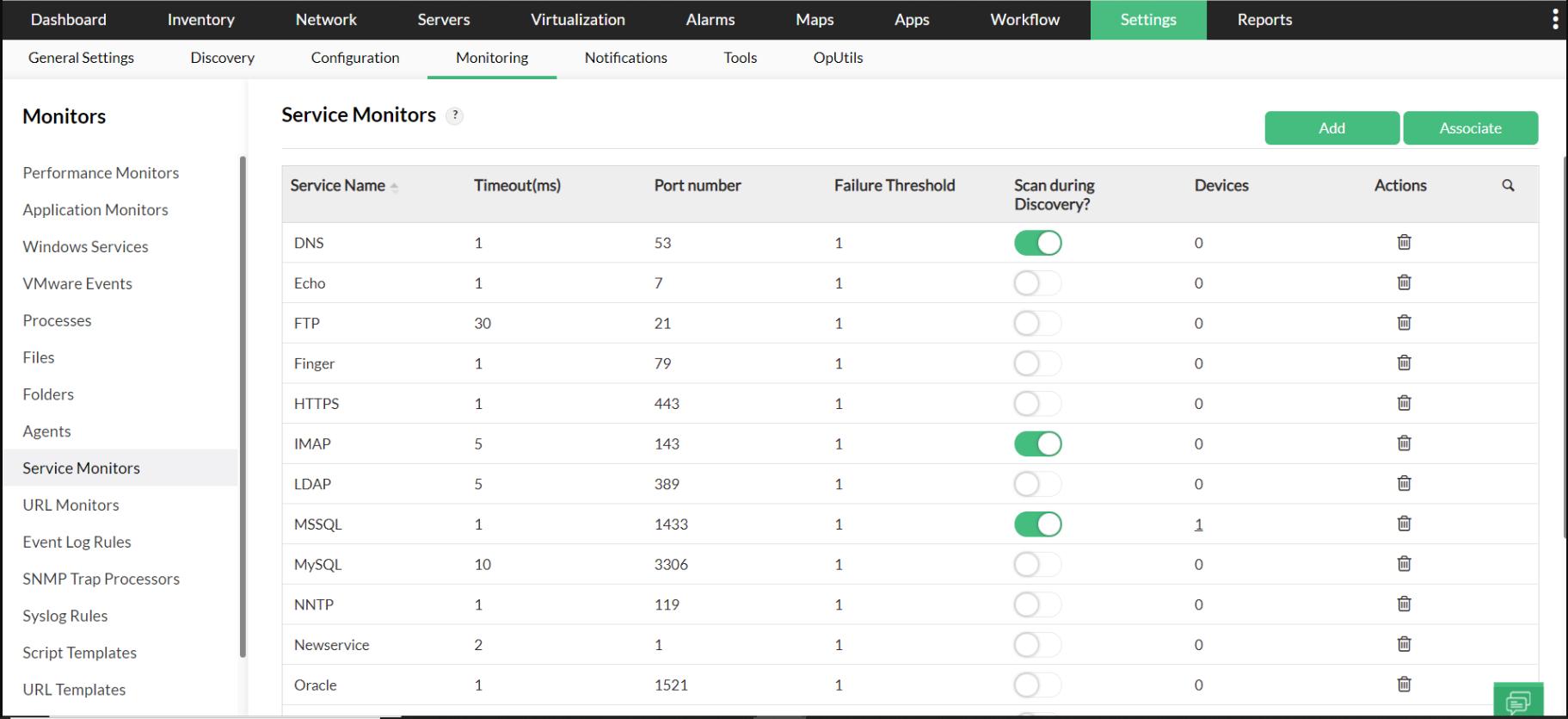 Load Balancer Service Monitor - ManageEngine OpManager