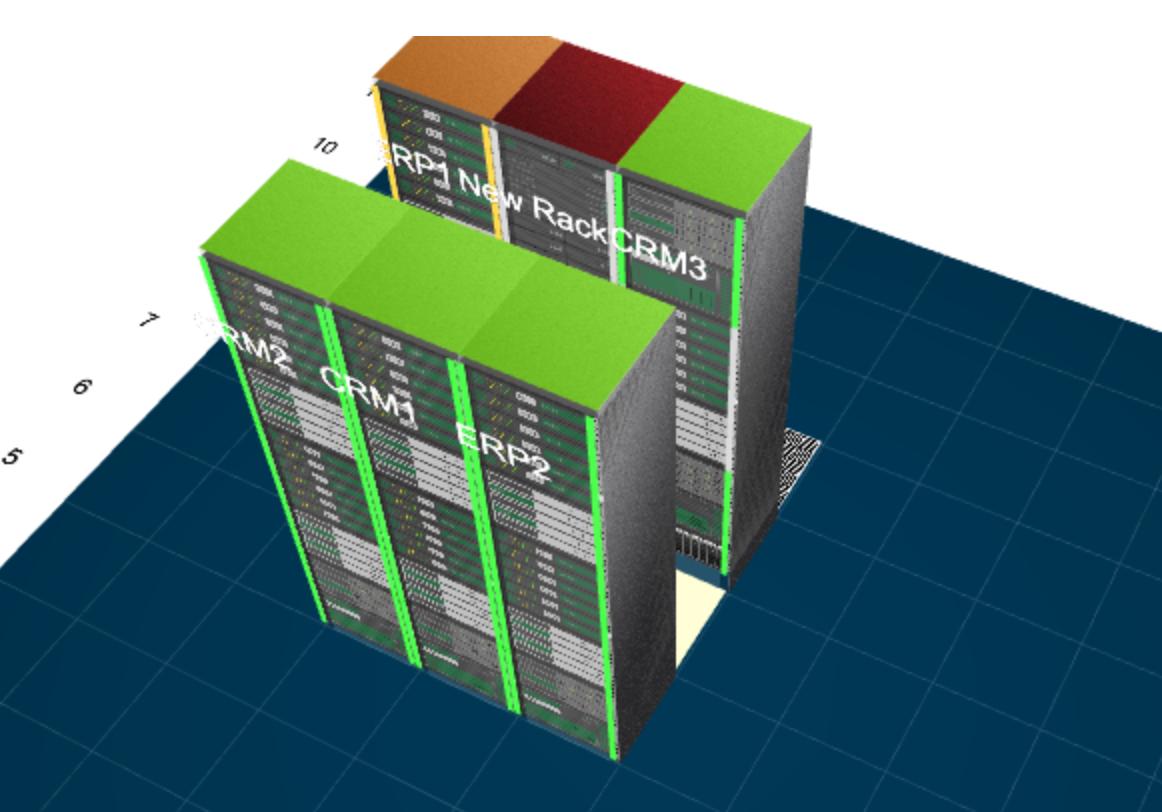 Vues d'étage 3D: Représentez schématiquement les serveurs et commutateurs de votre réseau - ManageEngine OpManager