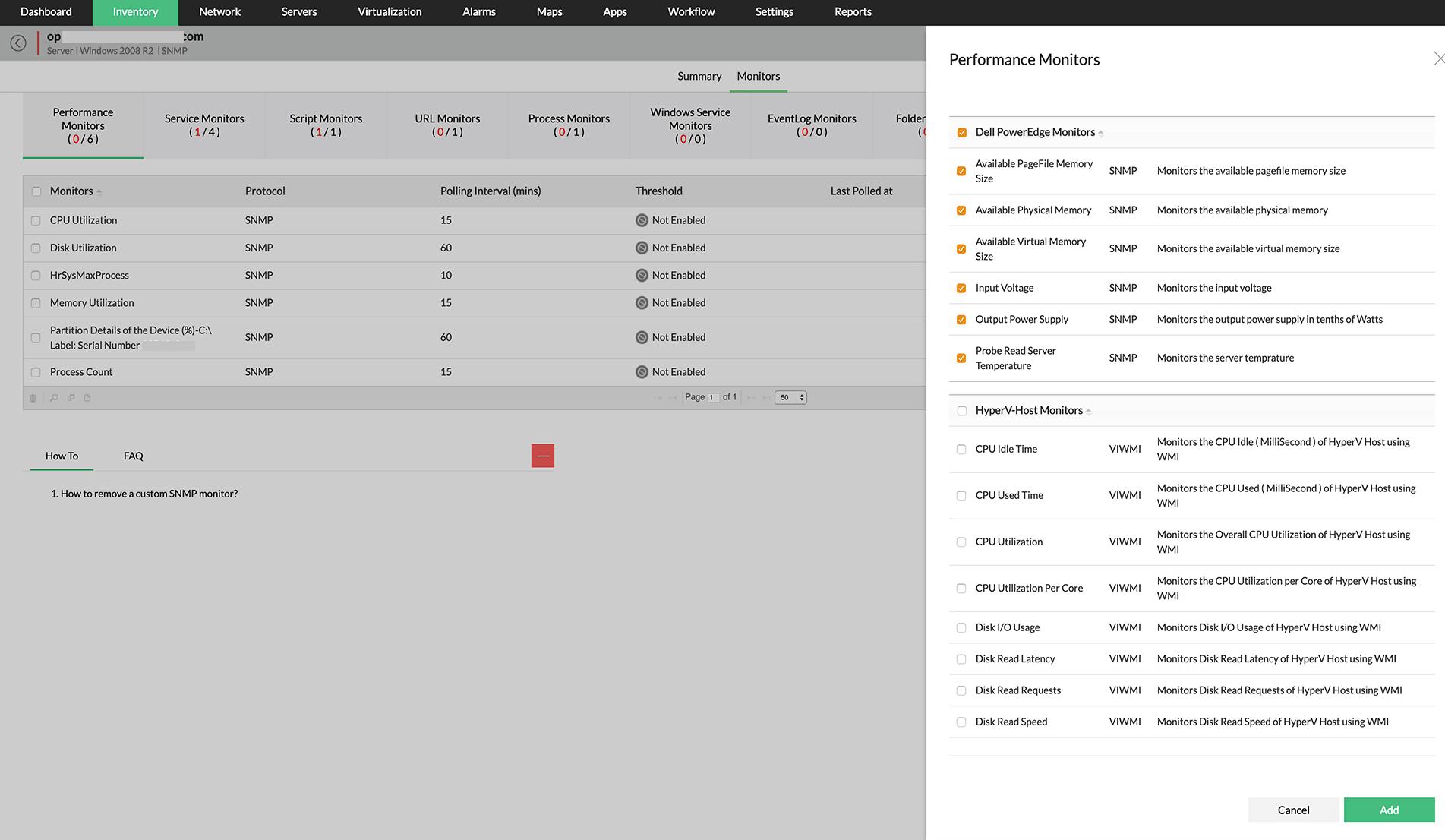 CPU Memory & Disk Utilization Performance Monitor