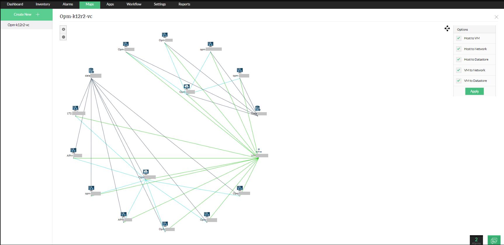 Capacités de visualisation du système de gestion de réseau d'OpManager - ManageEngine OpManager