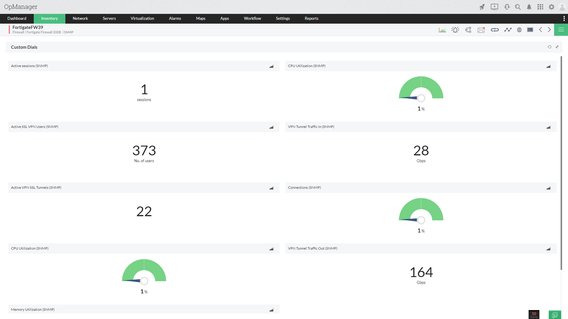 Monitor VPN Bandwidth - ManageEngine OpManager