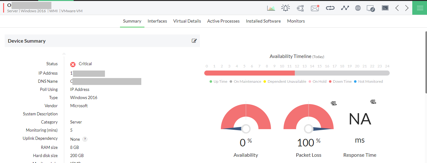 OpManager: Solution d'analyse de processus Windows puissant et robuste - ManageEngine OpManager