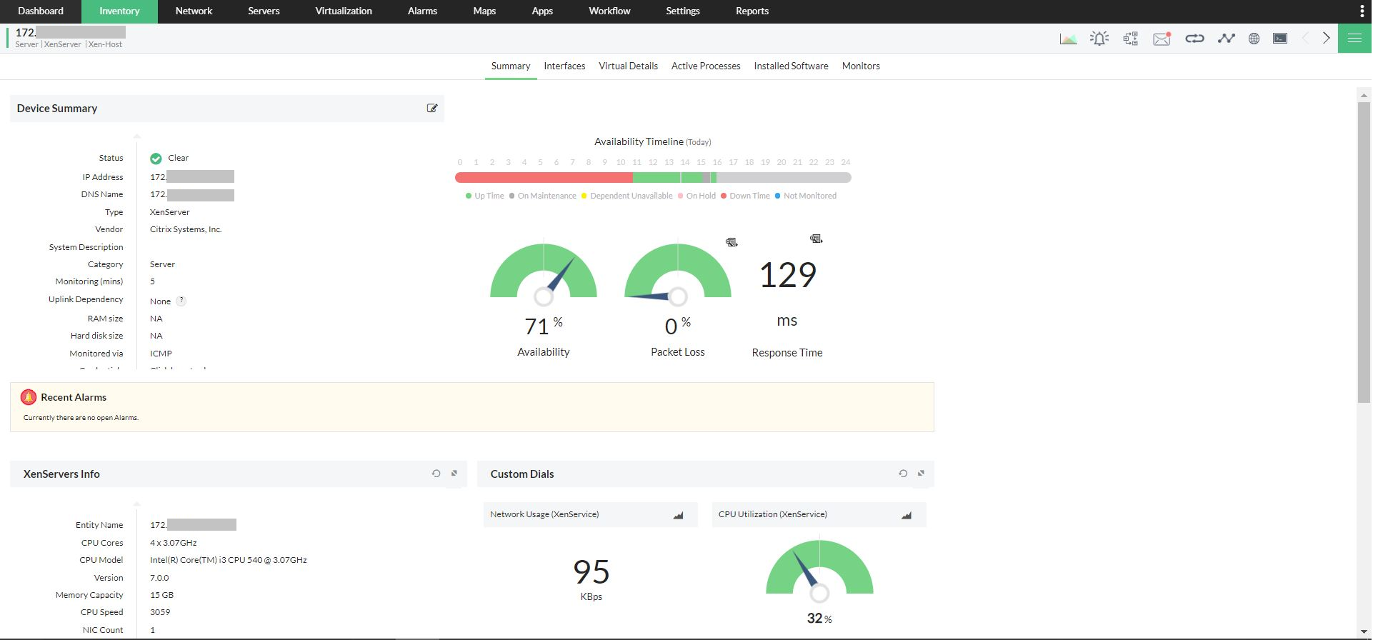 XenServer Monitoring - ManageEngine OpManager