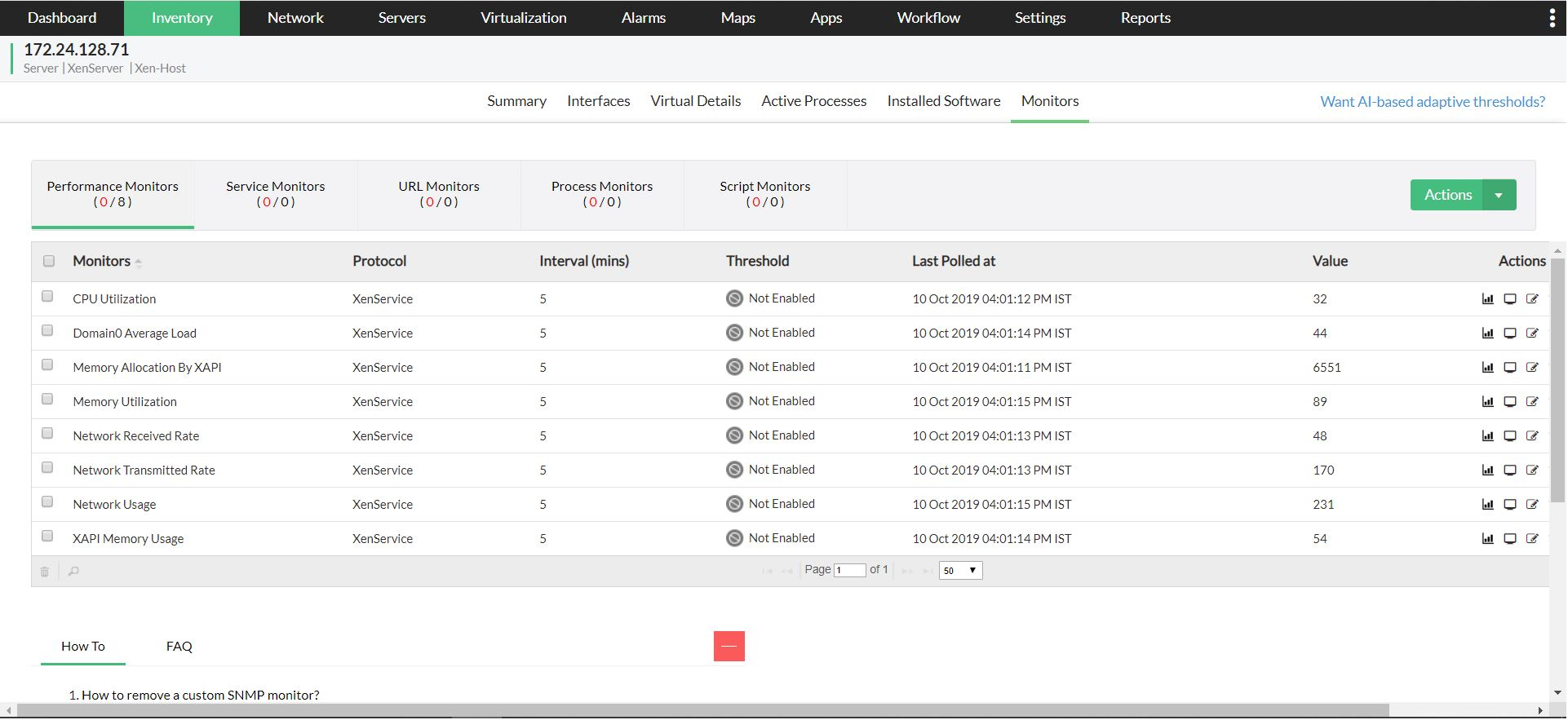 Citrix XenServer Performance Monitoring - ManageEngine OpManager