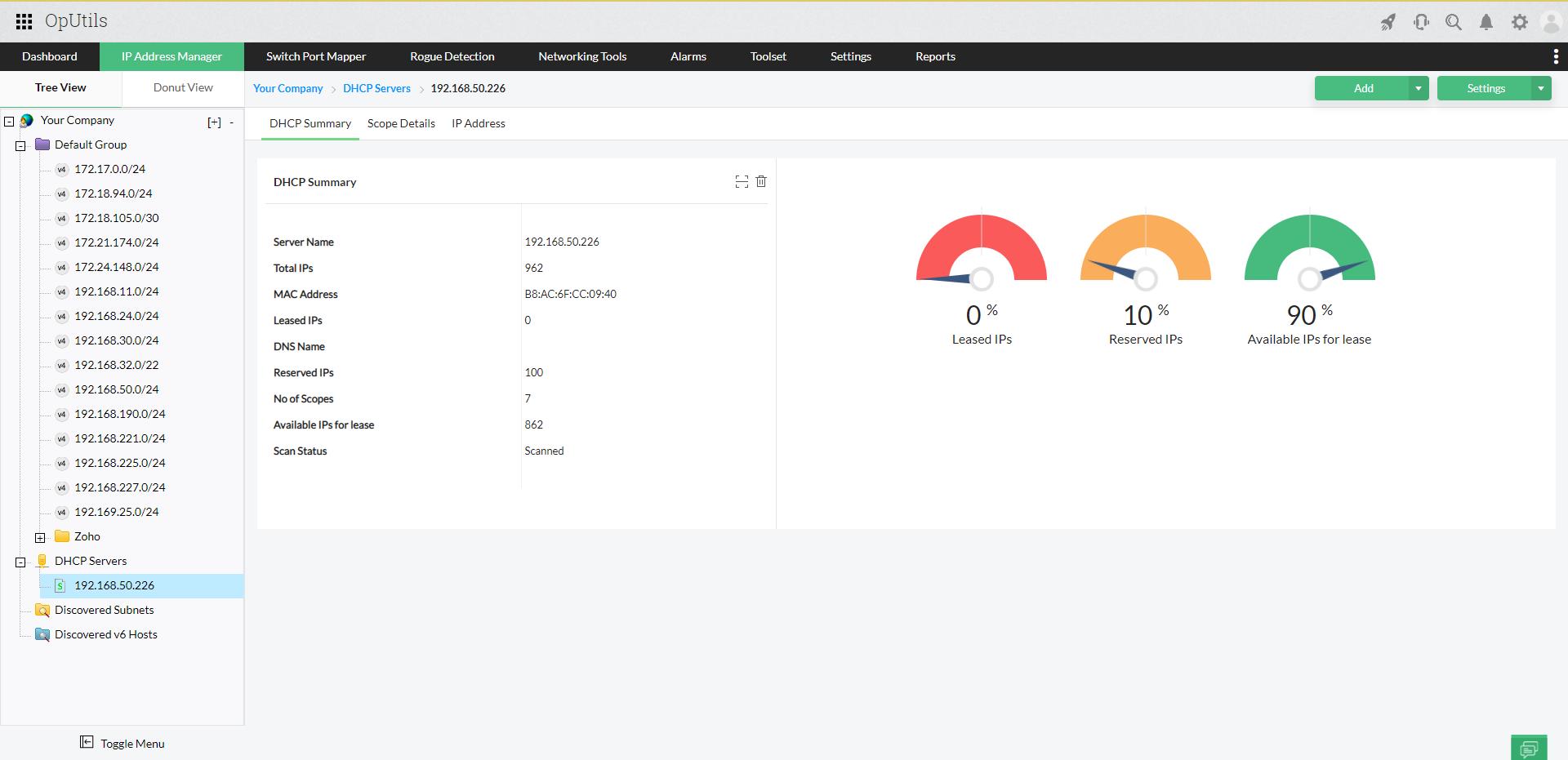 IP Address Tracker Tools - ManageEngine Oputils