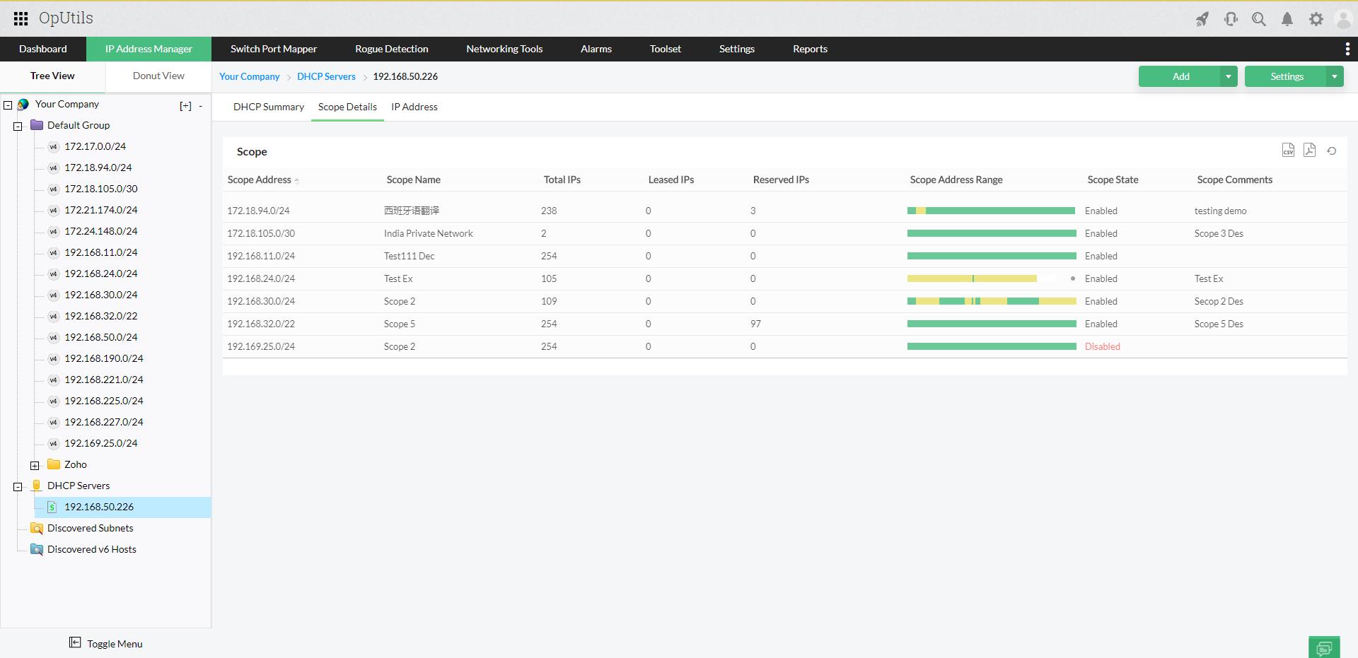 Advanced IP Address Tracker - ManageEngine Oputils
