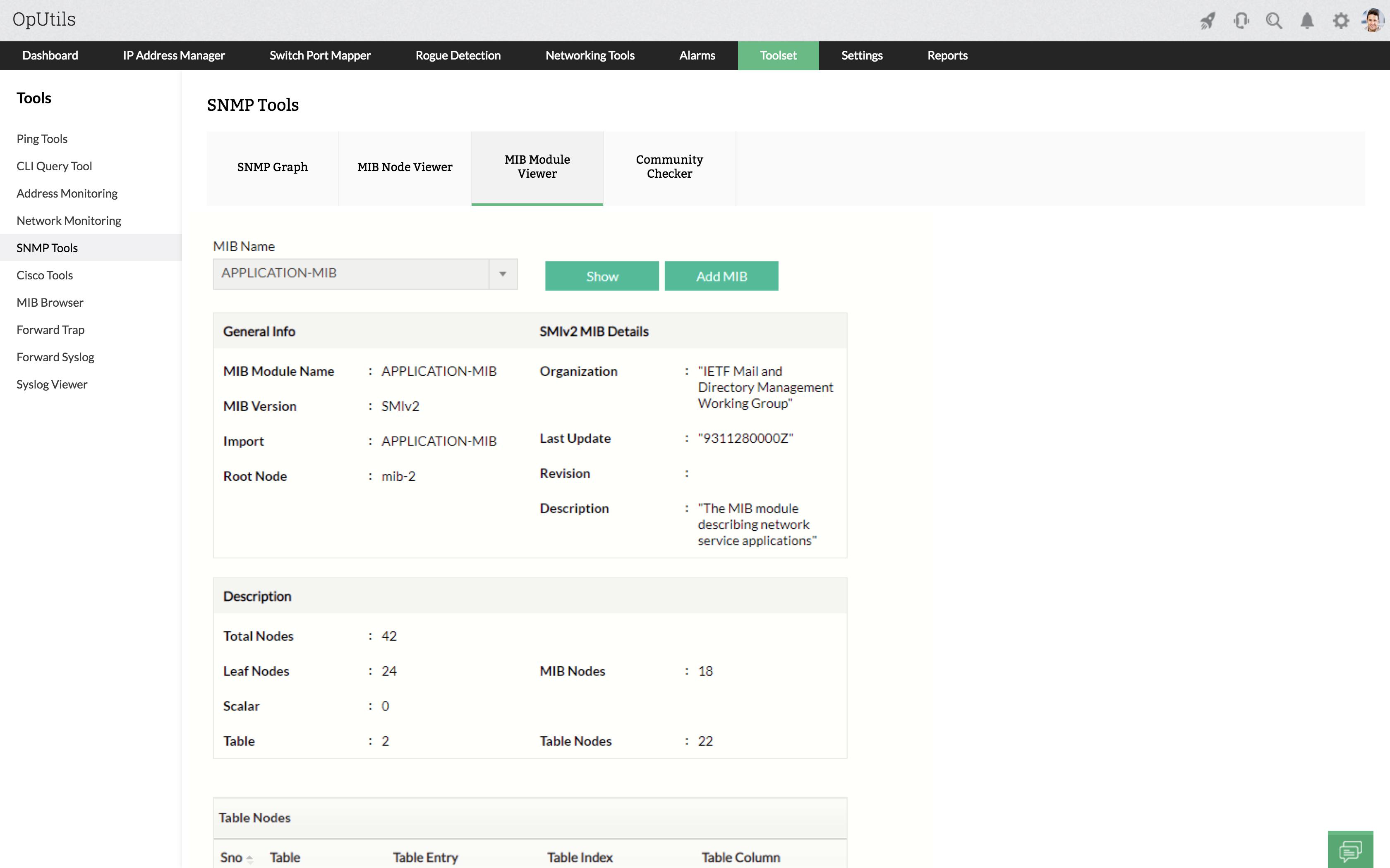 SNMP MIB Module - ManageEngine OpUtils