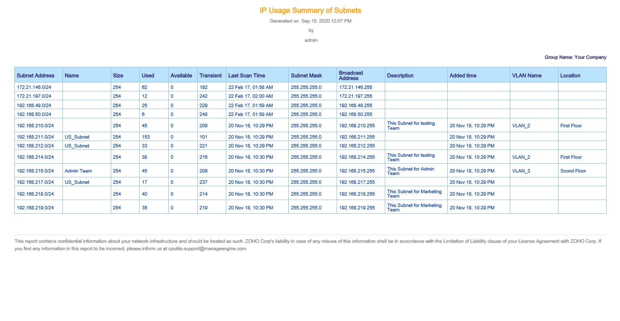 Advance IP address scanner - ManageEngine OpUtils