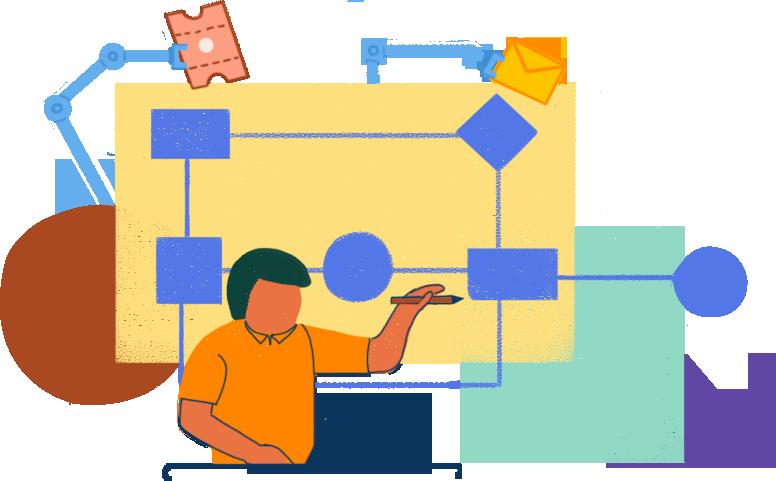 Visualisez et automatisez les processus de prestation de services avec des workflows.