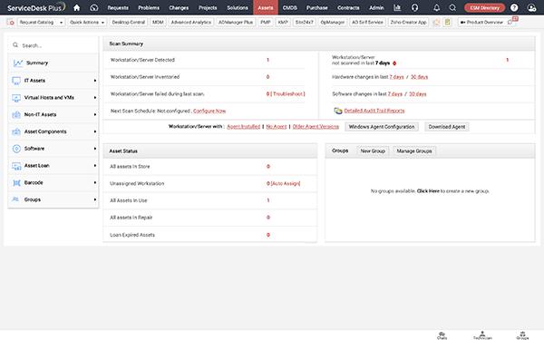 Nouvelle Interface utilisateur améliorée du module de gestion des actifs.