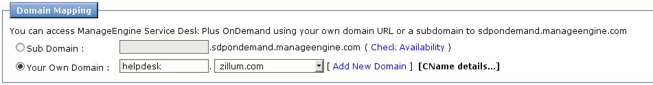 Configurer le domaine personnalisé