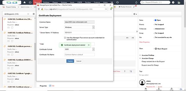 Prend désormais en charge les intégrations avec Key Manager Plus de ManageEngine et les serveurs de téléphonie.