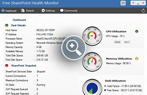 Monitor de salud gratuito de SharePoint - Herramientas gratuitas de ManageEngine
