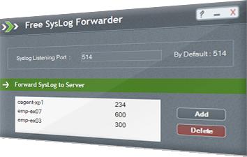 Free Syslog Forwarder Tool