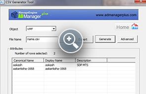 CSV Generator - ManageEngine Free Tools