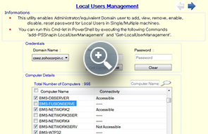 Local User Manager tool - ManageEngine Free Tools