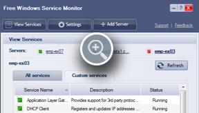 Custom Windows Service Monitor - ManageEngine Free Tools