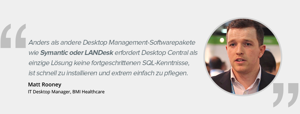 Desktop Central Customer Testimonial