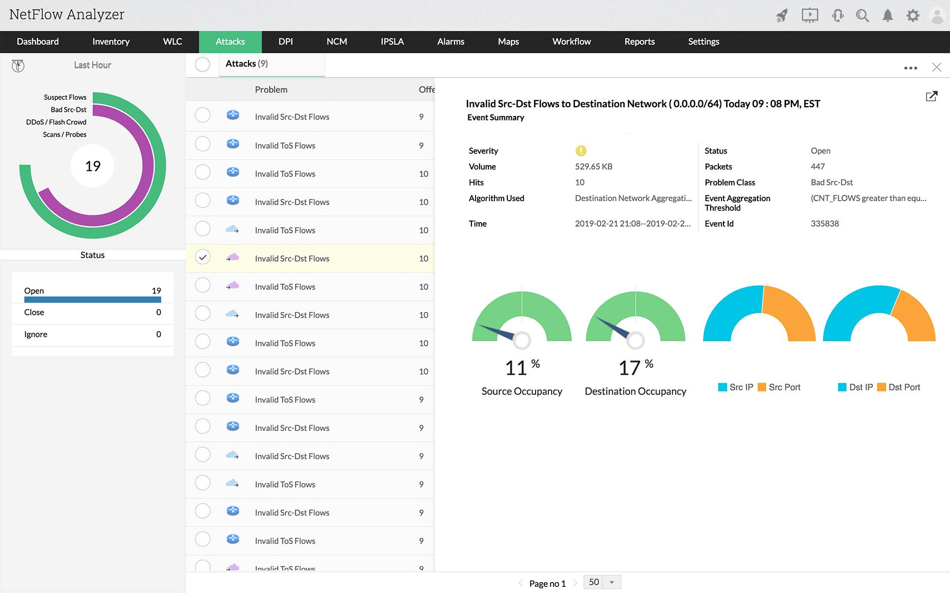 Network Server Monitoring - ManageEngine NetFlow Analyzer