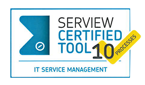 ServiceDesk Plus receives the SERVIEW CERTIFIED TOOL award for ten IT service management processes