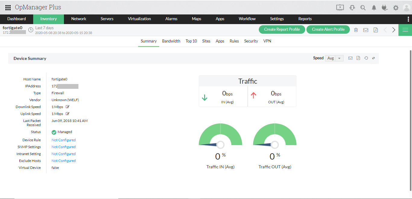 IT Operations Monitoring - ManageEngine OpManager Plus