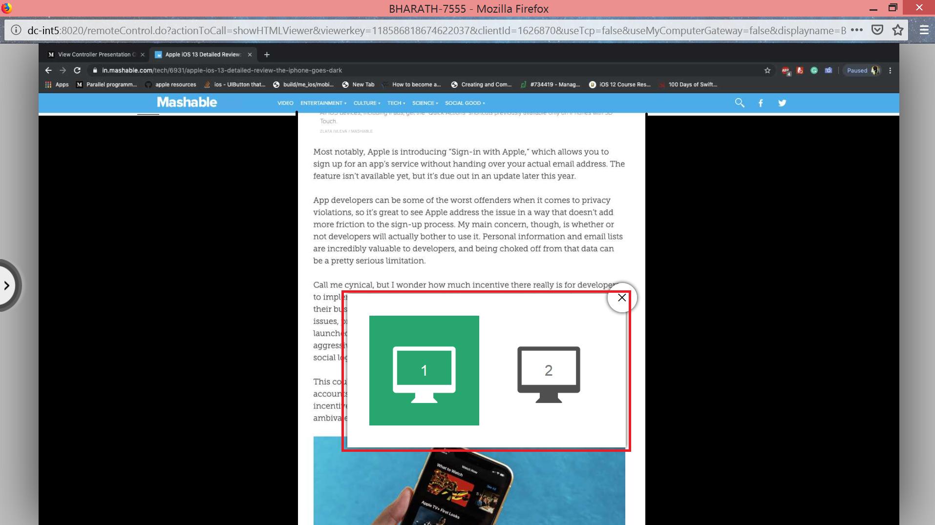 Passa da uno schermo all'altro in vista multimonitor senza soluzione di continuità