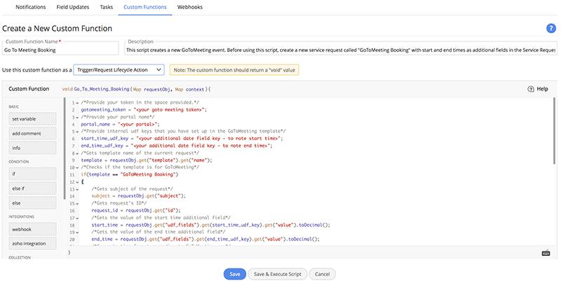 Personalizzazione di qualsiasi aspetto con un semplice script.