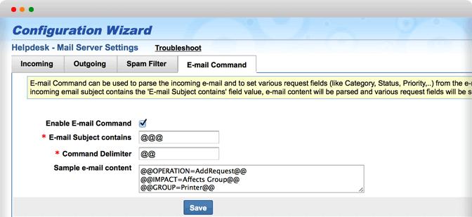 Sistema di gestione trouble ticket per le e-mail