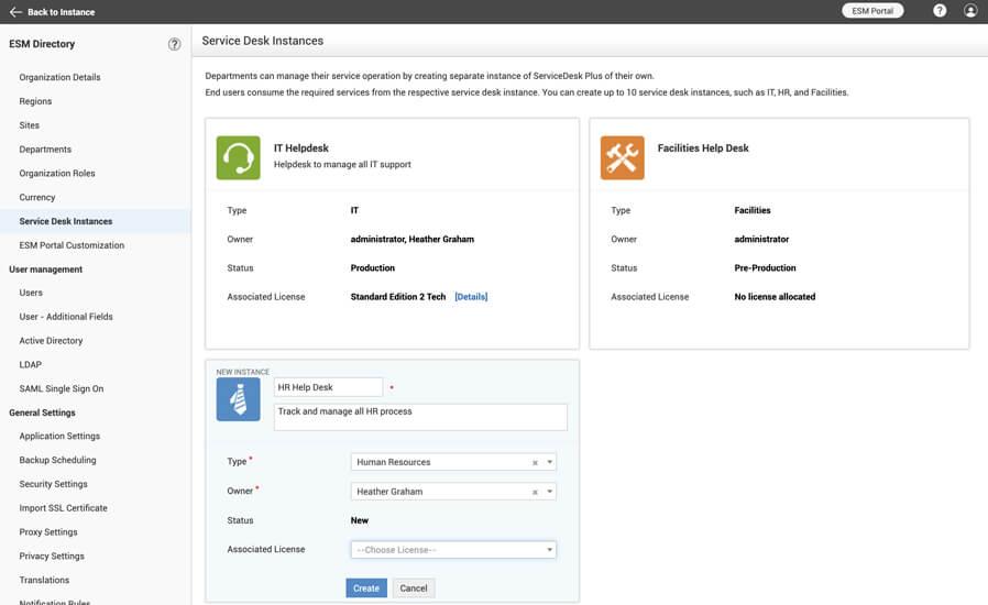 enterprise-service-desk-instances