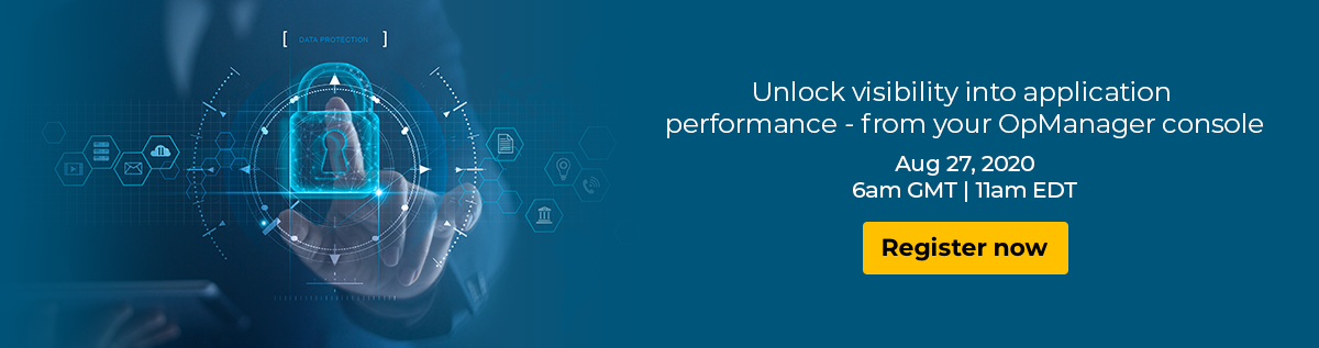 Unlock visibility into application performance - from your OpManger console