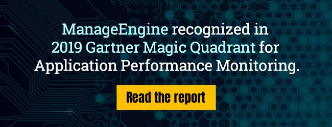 ManageEngine in the 2019 Gartner Magic Quadrant for APM