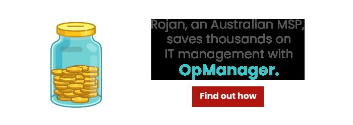 Rojan Australia MSP case study OpManager