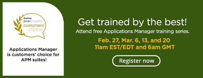 Applications Manager free training series