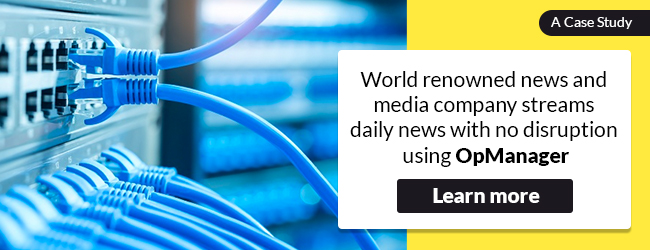 News and Media company use OpManager - Case Study