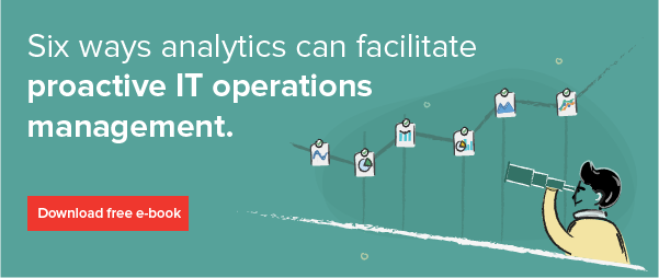Six ways analytics can facilitate proactive IT operations management.