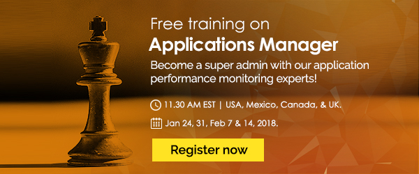 Free training on Applications Performance Management.