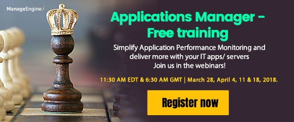 Free training on Applications Manager.