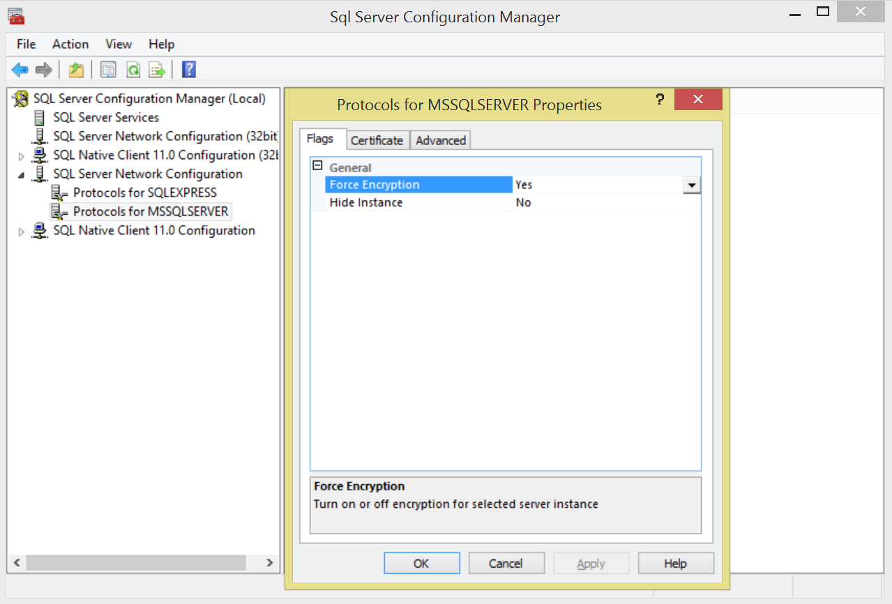 Configure Mssql Server As Backend