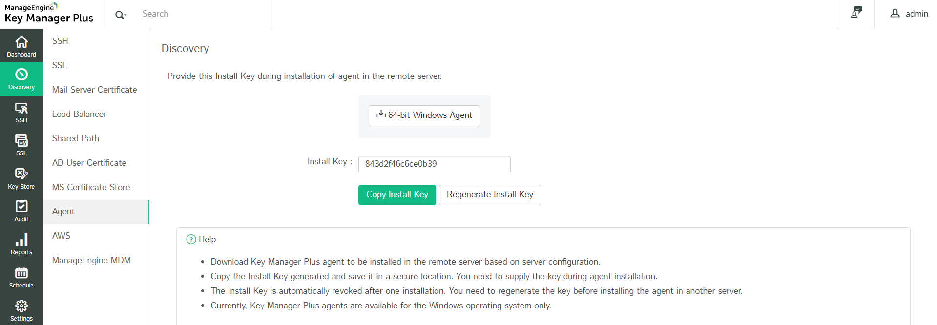 Manage SSL Certificates - Key Manager Plus
