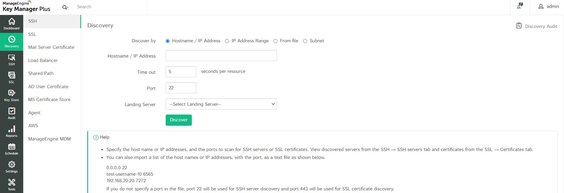 SSH Key Resource Management - Key Manager Plus