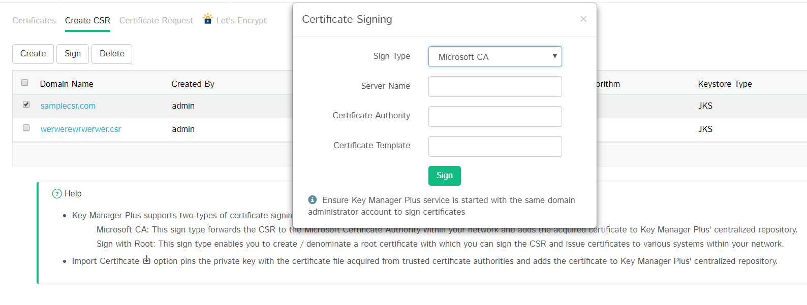 Manage Ssl Certificates Key Manager Plus