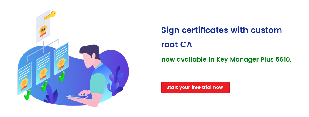 Sign certificates with custom root CA