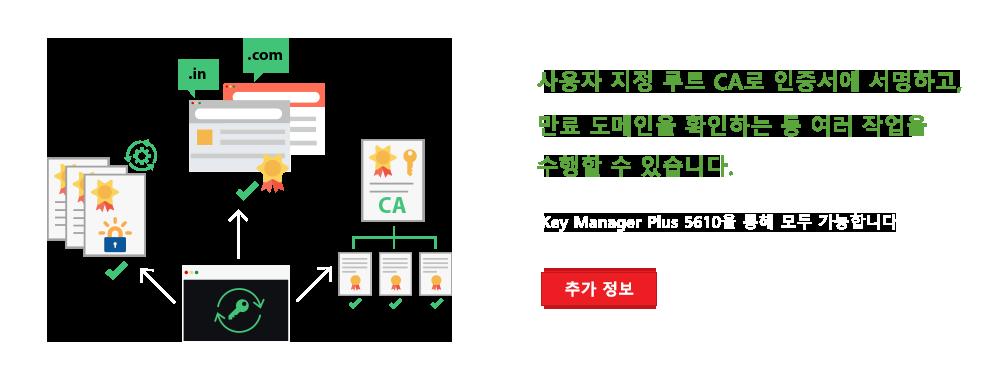 사용자 지정 루트 CA로 인증서에 서명하고, 만료 도메인을 확인하는 등 여러 작업을 수행할 수 있습니다.