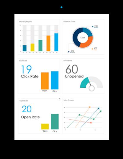 Dele vida a sus datos mediante visualizaciones detalladas y dashboards interactivos.