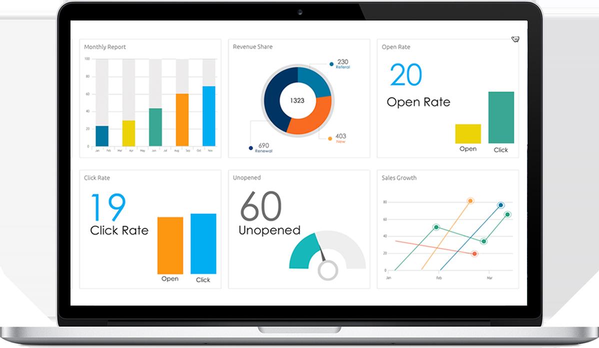 BDele vida a sus datos mediante visualizaciones detalladas y dashboards interactivos.