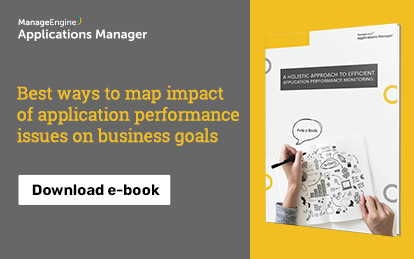 E-book : Best ways to map business impact of application performance issues on business goals
