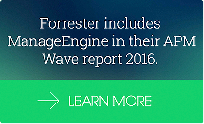 Forrester incluye a ManageEngine en su informe APM Wave 2016